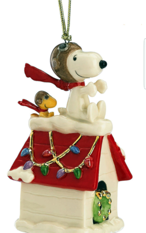 snoopy and woodstock xmas ornament the red baron - 2018
